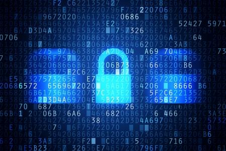 Photo pour Computer security code abstract image  Password protection conceptual image  - image libre de droit