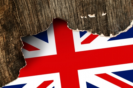 Great Britain flag  United Kingdom flag in grunge technique