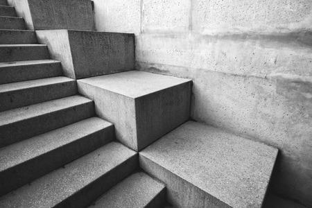 Photo pour Concrete staircase as abstract architectural background, monochromatic image - image libre de droit