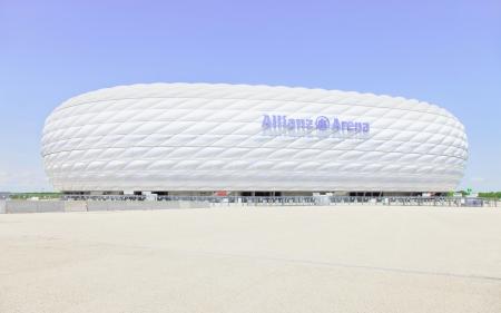 Football Stadium Allianz Arena. Munich Germany Europe.