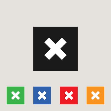 Cancel icon, stock vector illustration