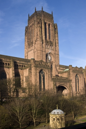 The Anglican Cathedral in the City of Liverpool in northwest England