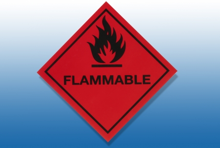 Hazard Warning Sign - Flammable substances