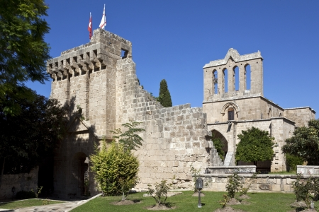 The Gothic monastery at Bellapais - Abbaye de la Paix - in the Turkish Republic of Northern Cyprus