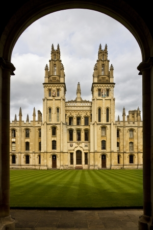 All Souls College - a part of Oxford University in Oxford in England in the United Kingdom