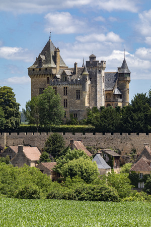 Chateau de Montfort - a castle in the French commune of Vitrac in the Dordogne region of France