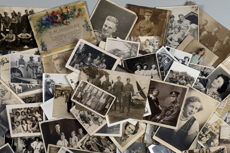 Photo pour Genealogy - Family History - Old family photographs dating from around 1890 up to about 1950. - image libre de droit