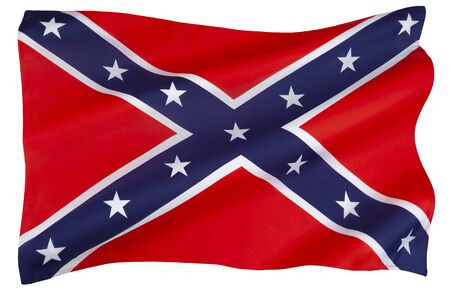 Photo for Flag of the Confederate States of America. Its use started in response to the civil rights movement in the 1950s and 1960s and continues to the present day. - Royalty Free Image