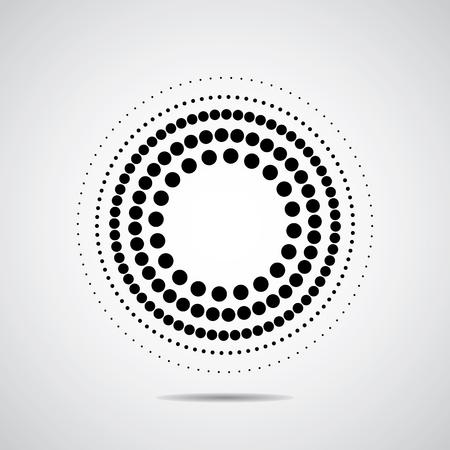 Illustration pour Halftone dots circle. Black on white and very good - image libre de droit