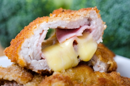 Cutlet ith ham and cheese filling