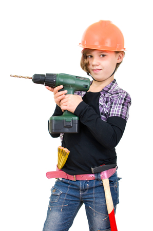 Girl with a drill in the Releasees background