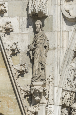Figure at Cathedral of St. Peter in Regensburg
