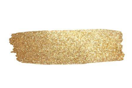 Ilustración de Gold Texture. Hand drawn brush stroke vector design element. - Imagen libre de derechos