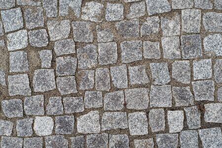 Photo for Old road paved with granite stones for background - Royalty Free Image