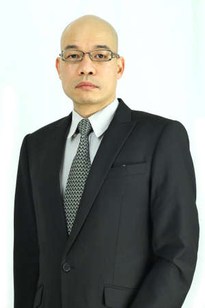 Oriental businessman with glasses
