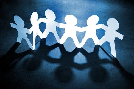 Photo pour Group of people holding hands - image libre de droit