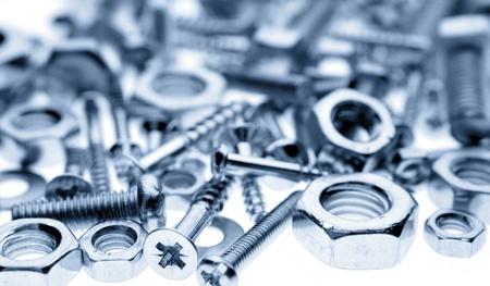 Closeup of nuts and screws