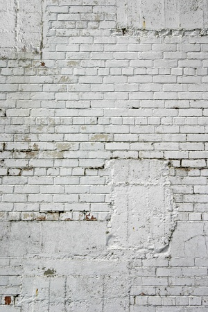 White blocks on building wall