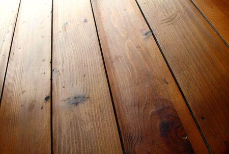 Closeup of brown floor boards