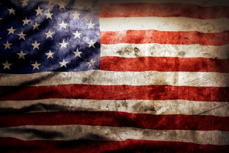 Photo pour Closeup of grunge American flag - image libre de droit