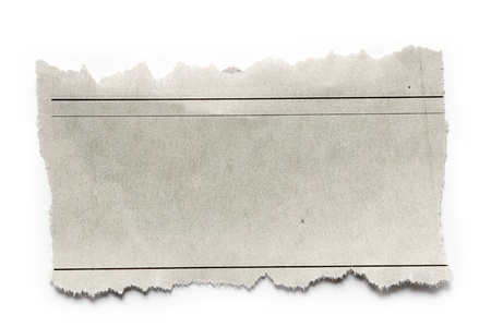 Piece of torn paper on plain background  Copy space