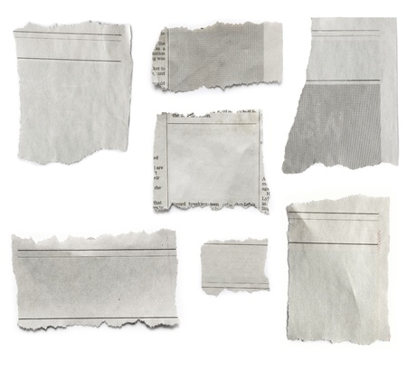 Pieces of torn paper on plain background  Copy space