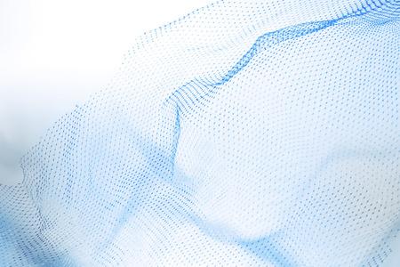 Foto de Closeup of abstract fishnet on white background. Blue tone - Imagen libre de derechos