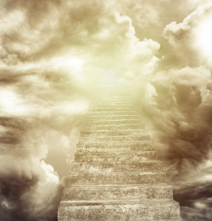 Photo for Stairway leading up to heavenly sky - Royalty Free Image