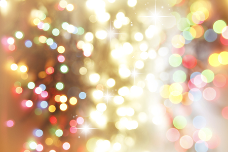 Photo for Colorful blurred circles and stars - Royalty Free Image