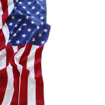 Photo for American flag on plain background - Royalty Free Image