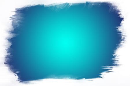 Photo pour Blue paint on white background - image libre de droit