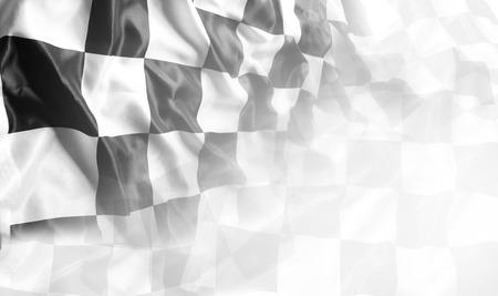 Photo pour Checkered black and white flag. Copy space - image libre de droit