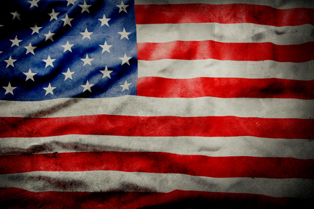 Photo pour Closeup of grunge American flag - image libre de droit