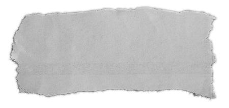 Photo pour Piece of torn paper isolated on plain background - image libre de droit