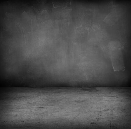 Photo for Empty floor and blank blackboard wall - Royalty Free Image