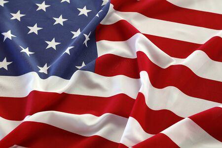 Photo pour Closeup of rippled American flag - image libre de droit