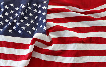 Photo pour Close-up of rippled American flag - image libre de droit