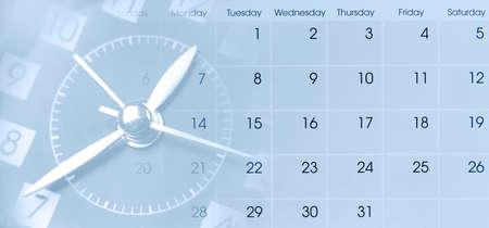 Photo pour Clock face and calendar composite - image libre de droit