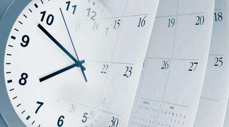Foto de Clock face and calendar composite - Imagen libre de derechos