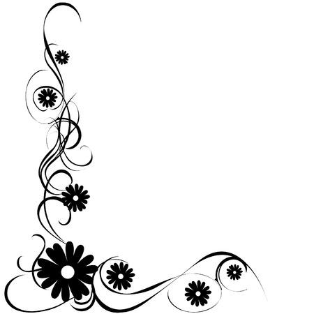 Foto de vector illustration of a floral image - Imagen libre de derechos