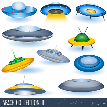 Space collection 2, flying saucers