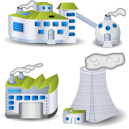 Different factory illustrations