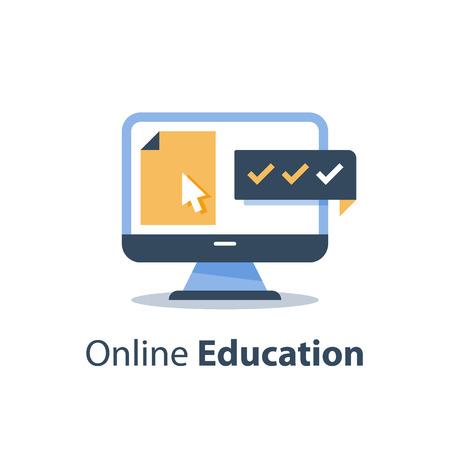 Illustration pour Education online course - image libre de droit