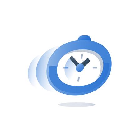 Illustration pour Time running, stopwatch in motion - image libre de droit