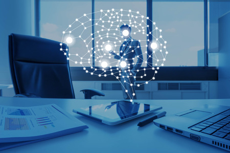 Photo pour AI conceptual in business technology, artificial inteligence concept - image libre de droit
