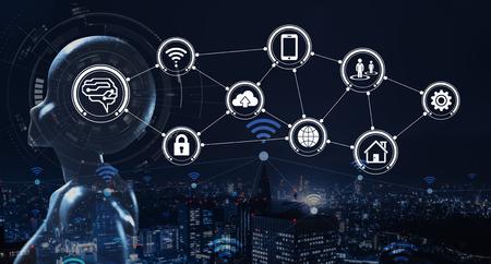 Photo pour AI, Artificial intelligence conceptual of next generation technology - image libre de droit