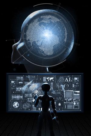 Photo pour AI, Artificial intelligence conceptual of next generation technology transformation, business improvement by AI tech - image libre de droit