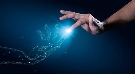 Photo pour Digital transformation conceptual for next generation technology era - image libre de droit