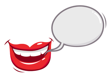 Mouth talking with a speech bubble