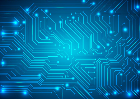 Foto de abstract vector background with high tech circuit board - Imagen libre de derechos